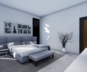 bedroom, comfortable, and home image