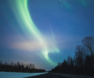 northern lights, red, and road image