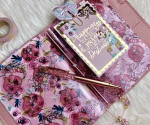 diary, floral, and girly image