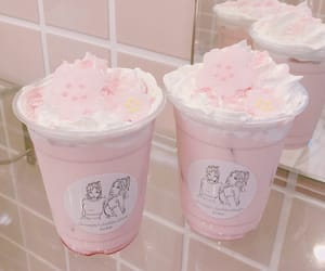 pink, drink, and soft image