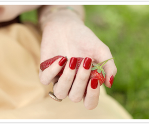 hand, photography, and red image