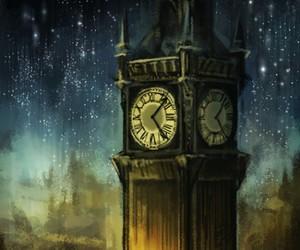 london, Big Ben, and art image