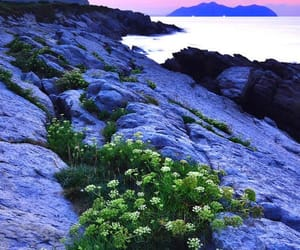 costa, paisaje, and mar image