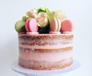 cake, naked, and macaron image