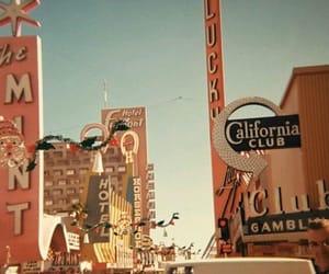 california, palace, and signboard image