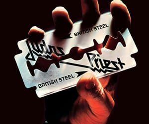 album cover, metal, and british steel image