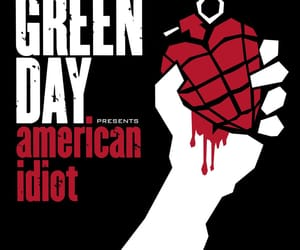 album cover, green day, and american idiot image
