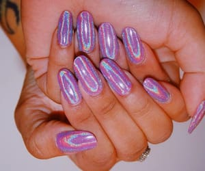beauty, glam, and purple nails image