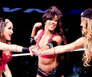 brie bella, bella twins, and alicia fox image
