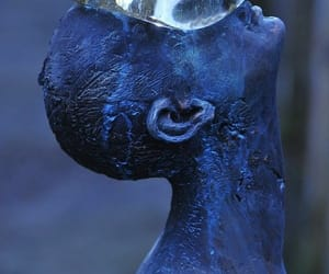 art, blue, and sculpture image