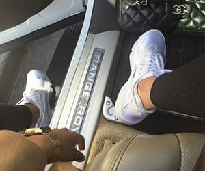 range rover, nike, and shoes image