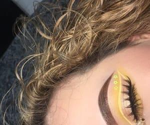 beauty, makeup, and yellow image