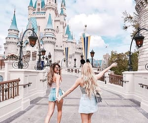 friends, girl, and disneyland image