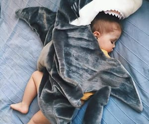 baby, shark, and sleep image