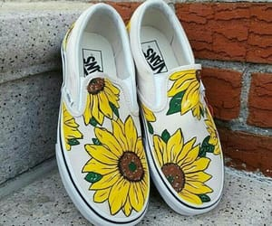 shoes, sunflowers, and style image
