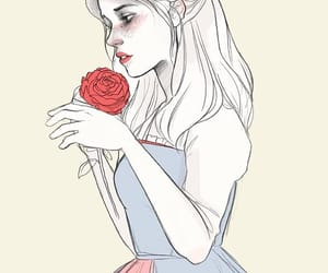 art, beauty and the beast, and girl image