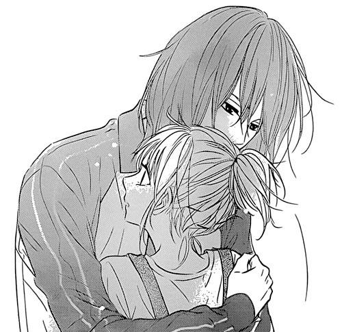 manga, hug, and manga girl image