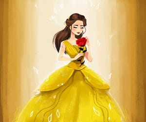beauty, bell, and disney image
