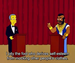 the simpsons and mr t image