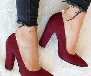 chaussures, heels, and red image