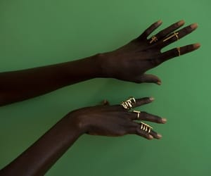 green, melanin, and hands image