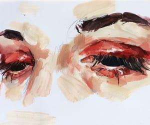 art, eyes, and sad image