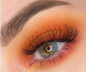 orange and makeup image