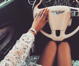 beautiful, girl, and car image