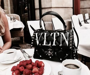 bag, fashion, and cafe image