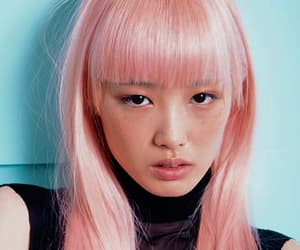 face, pink hair, and fashion model image