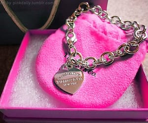 bracelet, tiffany, and pink image