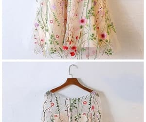 dress, spring dress, and flowers image