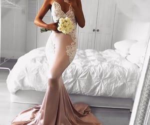 dress, wedding, and weddingparty image