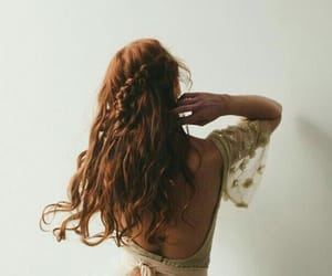 hair, pretty, and ginger image