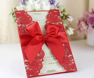 decoration, invitation, and red image