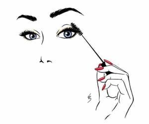 eyelashes and make up image