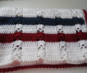 red white and blue, ready to ship, and handmade crochet image