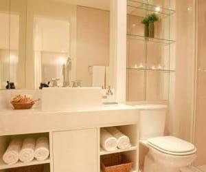 bathroom, interior design, and rose image