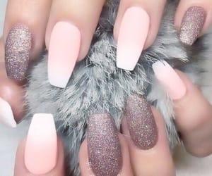 fashion, nail, and pink image