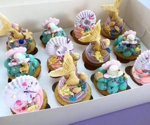 beach, birthday, and cupcakes image