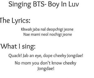 bts, Lyrics, and kpop image
