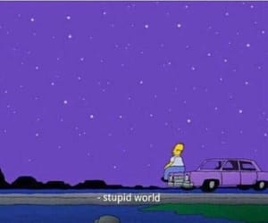 homer, purple, and simpsons image