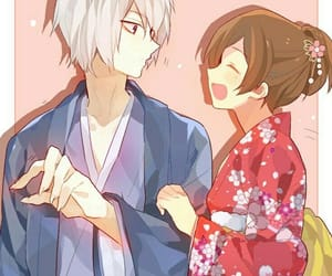 anime, couple, and tomoe image