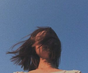 girl, aesthetic, and sky image