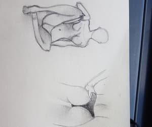 butt, draws, and pencil image