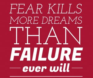 failure, fear, and red image