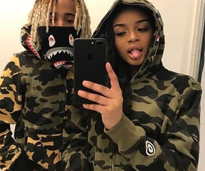 couple, bape, and style image