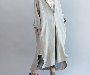 etsy, linen dress, and plus size dress image
