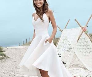 beach wedding dress and high low wedding dress image