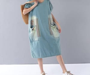 etsy, cotton dress, and casual dress image
